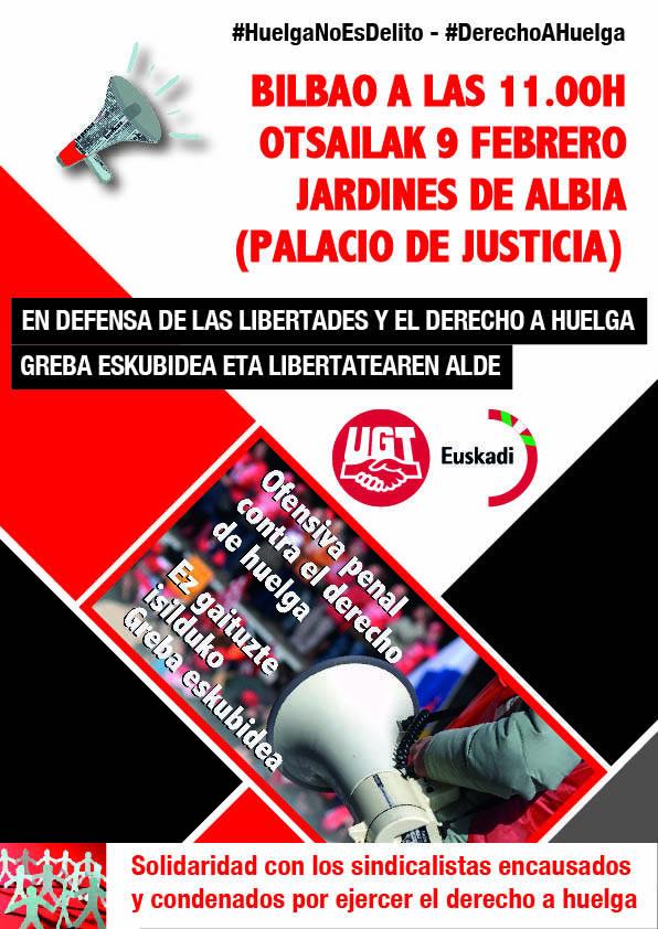 En defensa de las libertades y el derecho a huelga - Greba eskubidea eta libertatearen alde