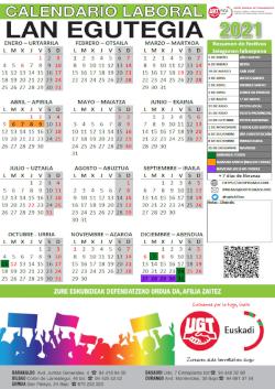 Calendario Laboral 2021 Fábrica